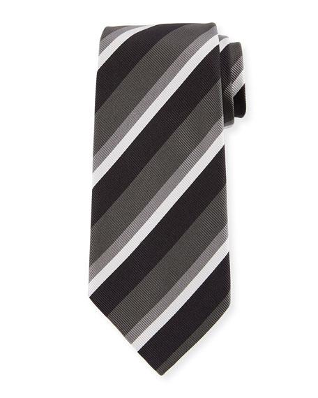 14988817 Basketweave Stripe Silk Tie