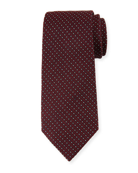 Ermenegildo Zegna Micro-Tic Silk Tie, Red
