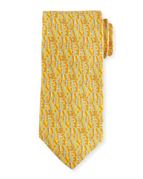 Salvatore Ferragamo Books Silk Tie