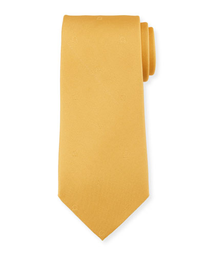 Eston Solid Silk Tie, Yellow
