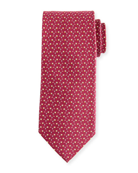 Flash Desk Lamp Silk Tie, Red