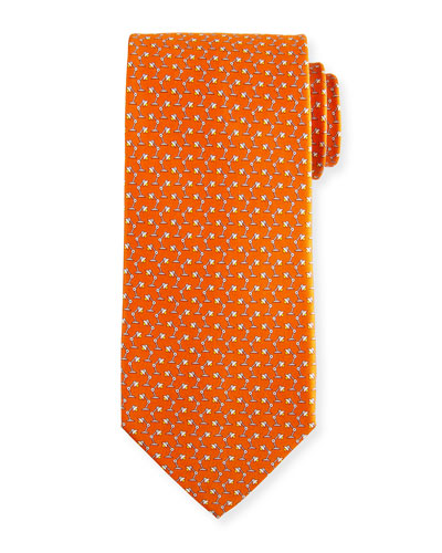 Flash Desk Lamp Silk Tie, Orange