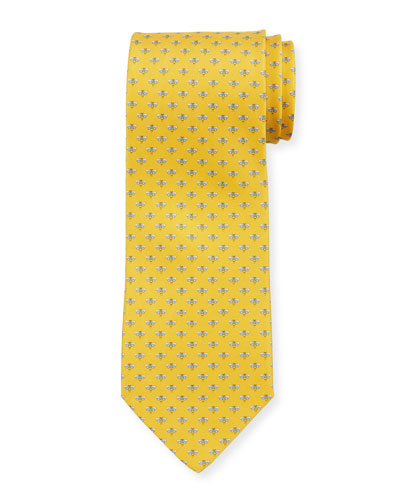 Honeybee Silk Tie, Yellow