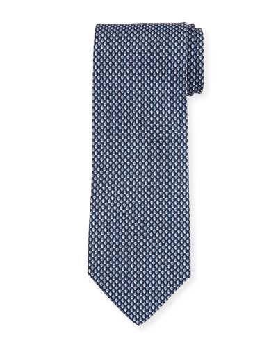 Acorn Silk Tie, Blue