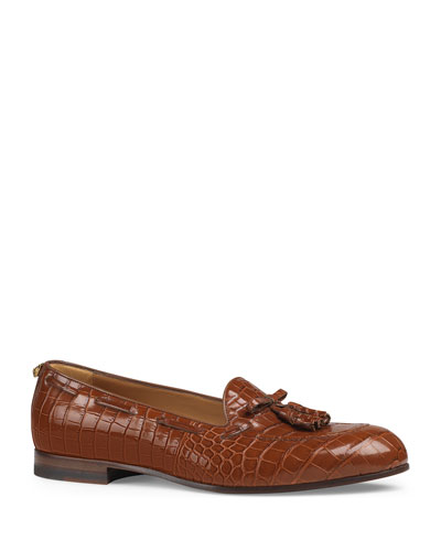 Men's Loomis Crocodile Slip-On Tassel Loafer