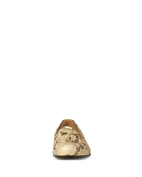 Python Tassel Loafer