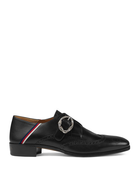 Leather Brogue Shoe with Sylvie Web