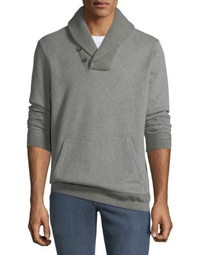 Men's Fleece Hybrid Shawl-Collar Sweater