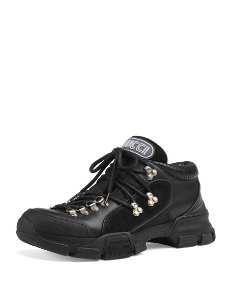 b4c05230214 Gucci Leather and Original GG Trekking Boot
