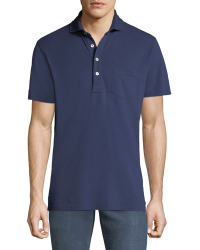 Men's 5-Button Polo Shirt with Pocket