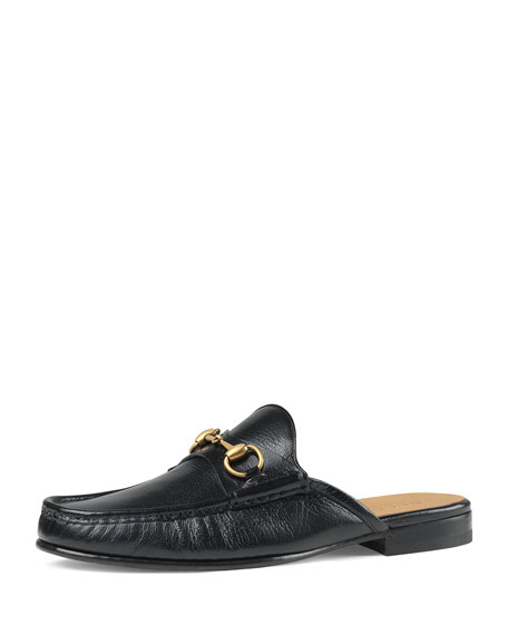 8ee83c327 Gucci Open Roos Horsebit Leather Backless Loafers In Black | ModeSens