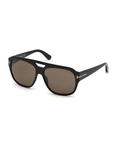 Men's Square Acetate Sunglasses