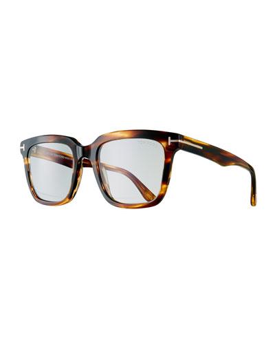 Men's Tortoiseshell Square Acetate Eyeglasses