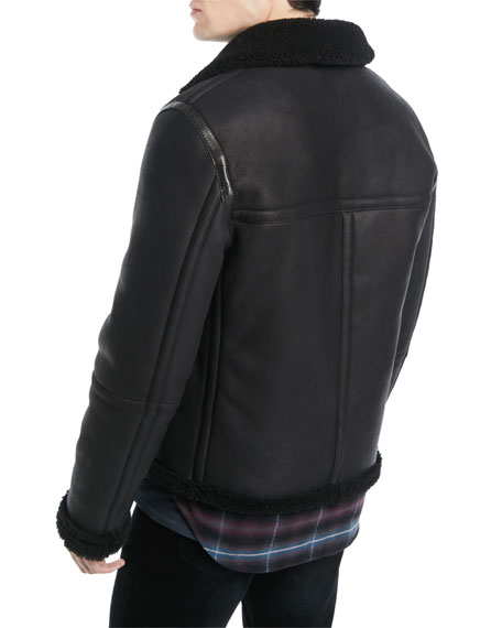 Men's Reversible Shearling Leather Jacket