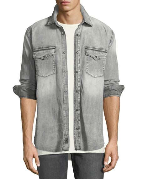 Hudson Men's Long-Sleeve Denim Shirt