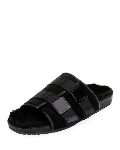 Men's Churchill Shearling-Lined Slide Sandals