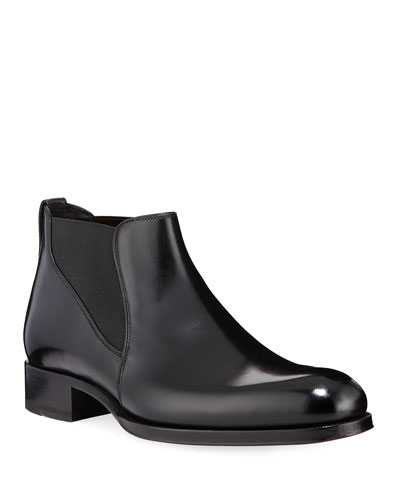 Men's Edgar Low Leather Chelsea Boots