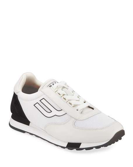 Bally Men's Gavino Retro Leather Running Sneakers