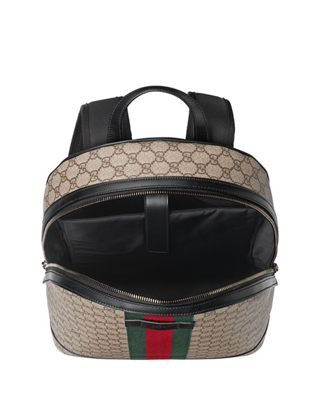 362c56670 Gucci Men's GG Supreme Web Backpack with Laptop Sleeve