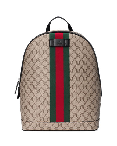 Men's GG Supreme Web Backpack with Laptop Sleeve