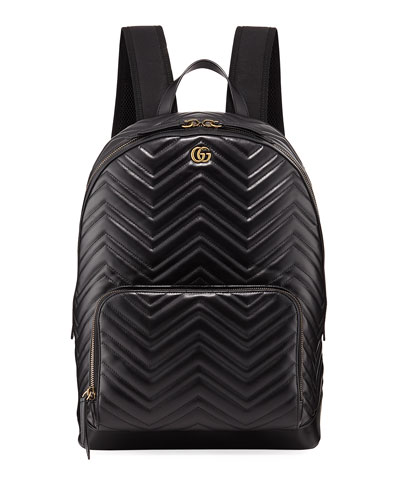 Men's GG Marmont Quilted Leather Backpack