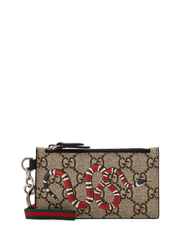 Men's Kingsnake Zip-Around Wallet with Strap