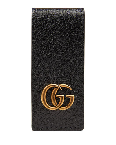 Men's Signature GG Leather Money Clip