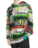 Burberry Men's Harrington Graphic-Print Hoodie