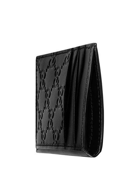 9e81b0e553 Men's GG Signature Leather Card Case