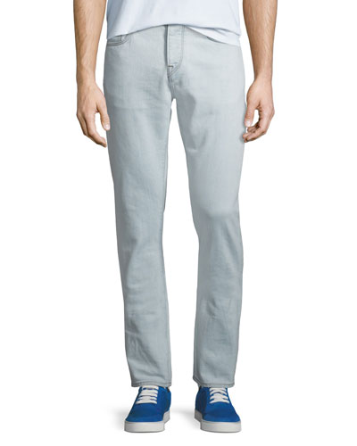Men's 80s Straight-Fit Stretch Jeans, Ice Blue