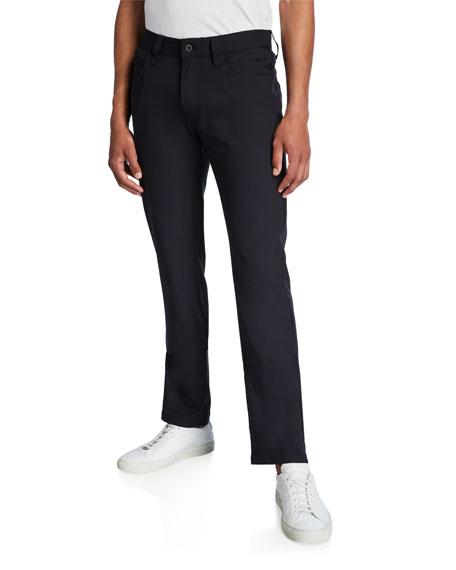 EMPORIO ARMANI Men'S J15 Techno-Stretch Straight-Leg Pants in Nero