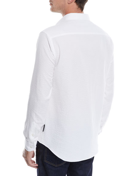 Men's Seersucker Sport Shirt