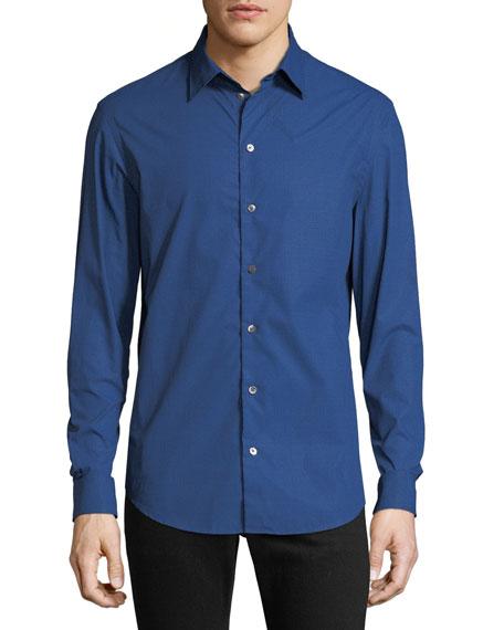 Men's Hexagon-Pattern Sport Shirt