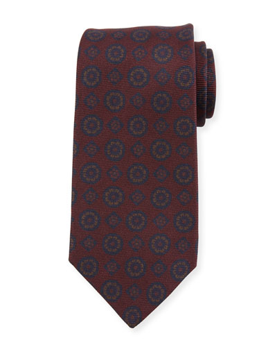 Antique Medallion Silk Tie