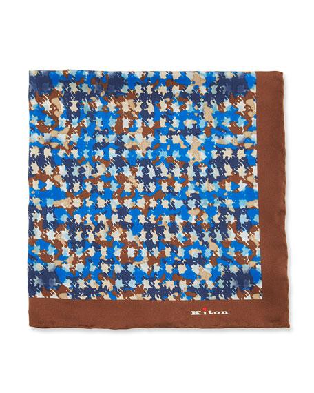 Kiton Irregular Spots Silk Pocket Square