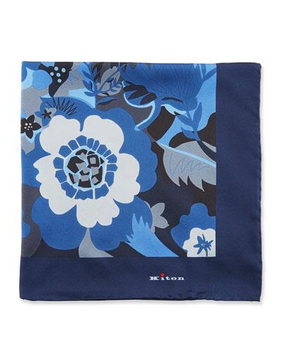 Floral Silk Pocket Square
