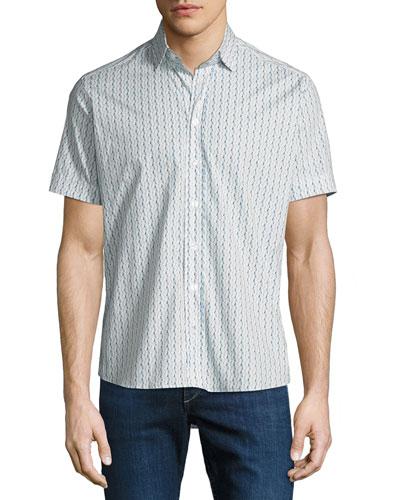 Men's Waves Short-Sleeve Sport Shirt