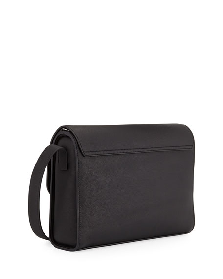 43443fdac97b Giorgio Armani Men s Tumbled Leather Messenger Bag
