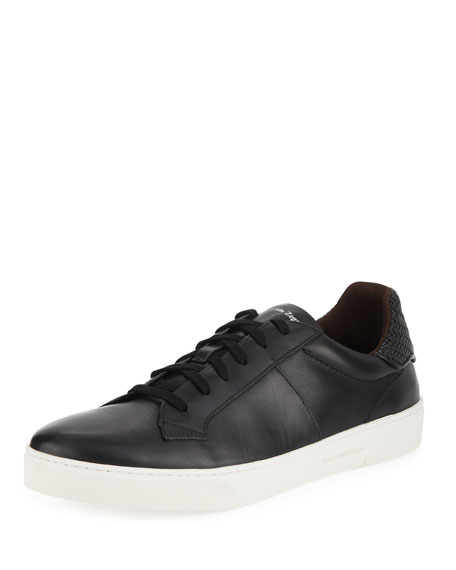 Ermenegildo Zegna Men's Vulcanizzato Leather Low-Top Sneakers