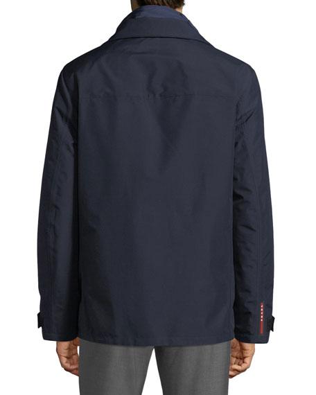 Men's Hooded Zip-Front Canvas Jacket