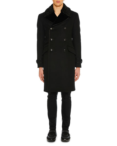 Prada Men's Cashmere Double-Breasted Coat