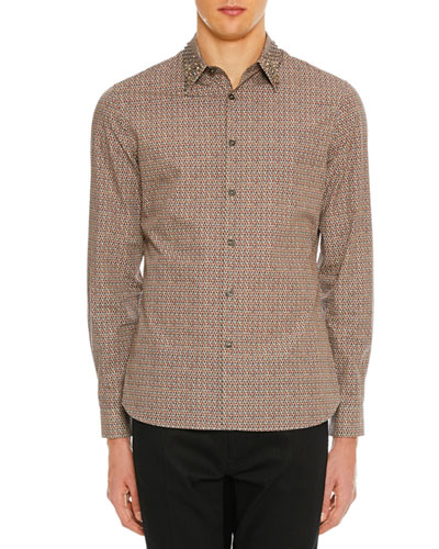 Men's Micro Geometric Sport Shirt