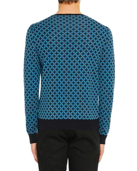 Men's Argyle Crewneck Sweater