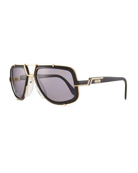 Cazal Men's 61mm Square Acetate/Metal Aviator Sunglasses