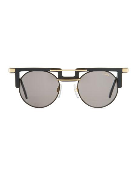 6018065413cf Cazal Men s Round Acetate Metal Sunglasses