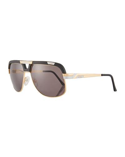 Men's Acetate/Metal Aviator Sunglasses