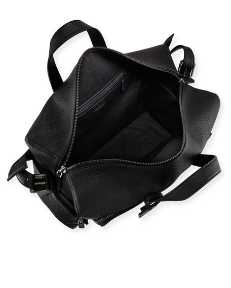 Giorgio Armani Men s Tumbled Calf-Leather Carryall Duffel Bag 48a57224fca90