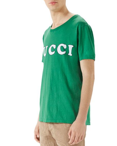 ff6246af5 Gucci Men's Box Letter-Logo T-Shirt