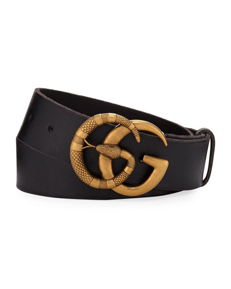 8a2057de48c Gucci Men s Cuoio Toscano Snake GG Belt