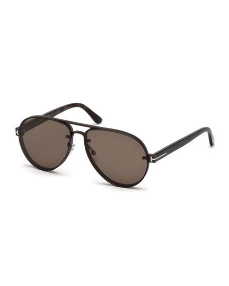 TOM FORD Men's Aviator Acetate Sunglasses